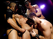What a collection of kinky cuties we have here. Led by ripped, muscular Spencer Reed, he commands  Austin Wilde and Tristan Jaxx to service his large cock before doing the same to intruder Junior Stellano. Ready for more, Junior gets a rambunctious hard f