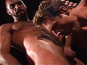 JD Kollin and Brandon Irons are two  hairy studs enjoying some private time together, hanging out one night at an outdoor cabana, complete with a roaring fire. The mood is right, and after a few beers, these guys are really into each other. But wait! The