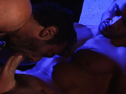 Two of the hottest, hairy and perfectly built men in porn history are a feast for the eyes in this video. FranA�ois Sagat and Huessein are very much into each other, practically chomping at the bit to have passionate sex. And the passion sure shows! The o