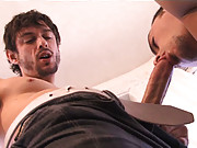 Victor Steele and Tristan Phoenix are silhouetted in the living room mirror, locked in an embrace, with San Francisco
