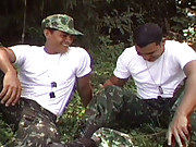 Two Brazilian army recruits take a hard-earned rest in the shade after completing a few laps around the barracks, but it doesnt take long before Beto and Alexander is taking part in some exercise of a different kind. This is an exclusive episode for SexGy