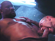 Its muscle on muscle in this scene with Raging Stallion Studios/Centurion exclusive superstar Erik Hunter paired with Raging Stallion/Pistol exclusive, Aussie bad dog musclehound, Aaron Action. The scene begins as Action deep-throats Hunter