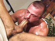 Uberhunk Dean Coulter and the dashing and perennially furry Tom Vaccaro star in this kinky release. After a hard day at the office, Coulter practically devours Vaccaros huge cock in a red-hot display that really must be experienced.