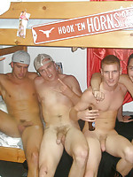 Drunk college boys get wild with each other.