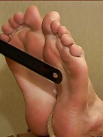 Gagged boy got feet tied to chair for pervy toe play