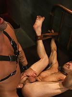 Adam Russo gets tied up for the first time and worships CJ Madison