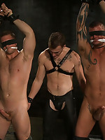 Derrick Hanson and Paul Wagner get tied up and fucked hard by Christian Wilde.