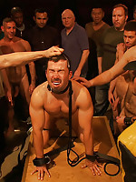 Dominik Rider gets used and abused by a bunch for horny men cruising the Nob Hill Theater.