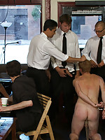 A coffee shop stud is humiliated, whipped and fucked for being an asshole.