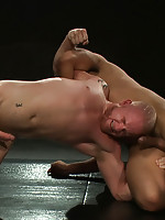 Two hot studs with huge rock hard cocks, fight for real!