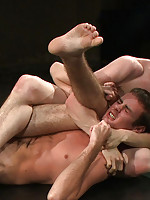 Two studs with big dicks fight for real and the loser gets abused and fucked by the winner.
