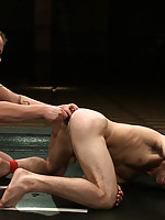 Trent Diesel gets in a hot naked wrestling session with studly DJ and sexually humiliates him in the end.
