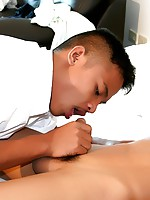 "Asian Boy Simon is Fucked in ""Wake Up Sex"""