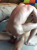 Big young meat in daddy's asshole