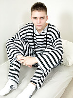 Young cutie bullied into oral by his older inmate