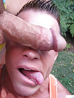 Monster cock screwing deep down a tight gay asshole