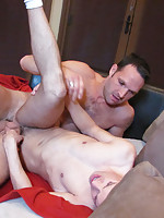 Jared gets his ass hole pounded really hard and eats cum!