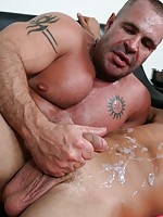 Gay dude gets his cock and asshole massaged