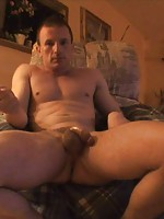 Guy shows off his cock and ass for you in home vid!