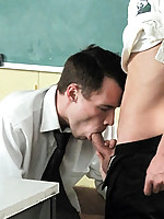 A submissive teacher turns into an ass slut after a hard day at work