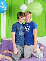 Twinks with a lot of passion making hot and sweet love