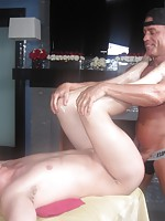 Dirty gay masseuse abusing a dumb straight guy