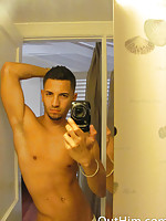 Closet case has friend take sexy photos to show off hot body!