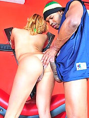 Horny Erika gets her asshole fucked by huge black dick