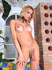 Hot tgirl Agatha showing her sweet as and dick