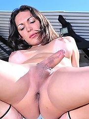 Naughty Leticia Rodrigues exposing her asshole and cock