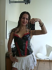 Incredible Nicole Posing In Sexy Latex Corset