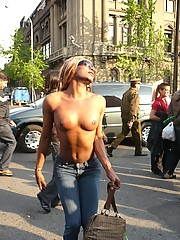 Hot Trannies At The Gay Parade In Santiago