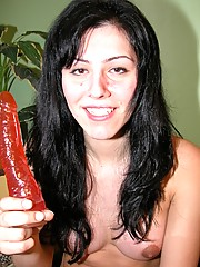 Felicita From Argentina Playing With A Dildo