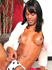 tasty chocolate skin t-babe from Brazil so hot that melts herself