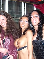 Nikki Montero out and about pics in Europe hanging out with some trannies