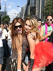 Hot Trannies at the gay Parade in Sao Paulo 2008