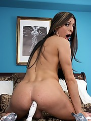 Naught Aly testing a new toy in her ass