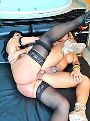 Naughty and horny shemales fucking each other