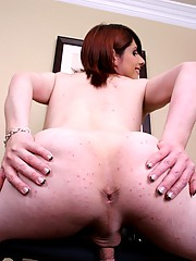Sexy shemale Amy Daly exposing her big stiff dick