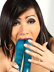 Exotical Transsexual Nam Playing With A Big Toy