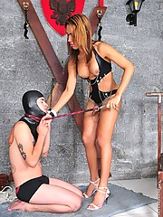Paola Lima Gagging Her Slave With Big Cock