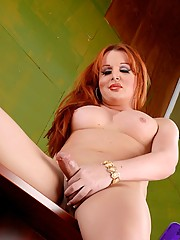 Redhead horny secretary Wendy Williams
