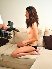 Bianca Doing A Movie On The Sofa