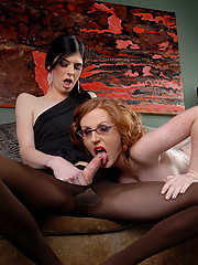 Two naughty girls pleasuring each other