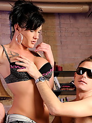 Naughty & horny Morgan having fun with a blind guy