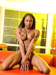 Big titted transsexual Natalia Coxxx posing