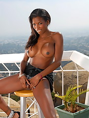 Adorable Natassia Dreams exposing her ebony body