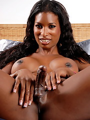 Ebony hottie Natassia Dreams posing