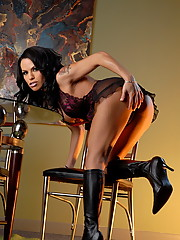 Naughty transsexual Foxxy wishing happy thanksgiving for you all