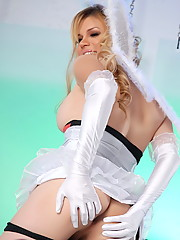 Sexy Jesse Posing In Sexy White Costume